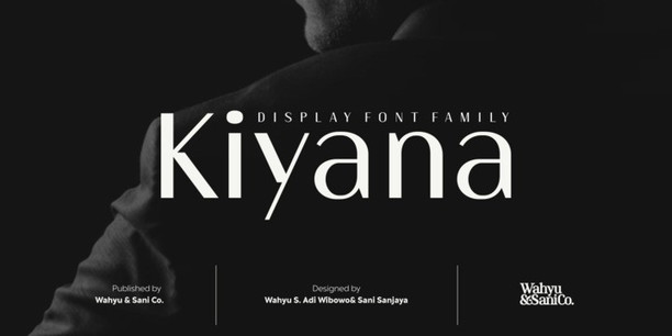 La typo Kiyana pour des supports imprimés efficaces et élégants