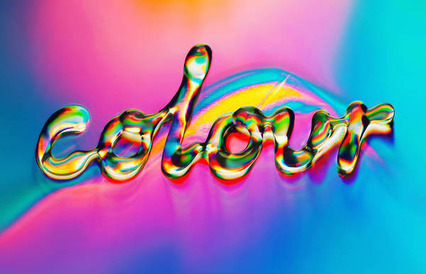 Beautiful Coloured Type with Water Bubbles –