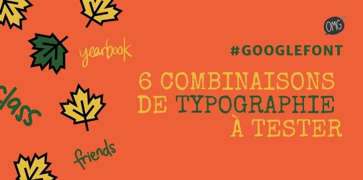 Google Fonts: 6 combinaisons de typographie à tester