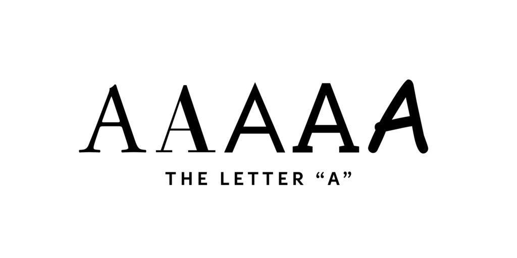 """The Letter """"A"""" — The Architecture Behind – Design Guidance"""